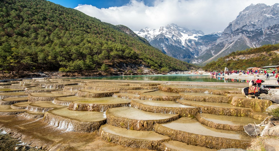 Blue moon Valley , White Water River waterfall and Jade Dragon